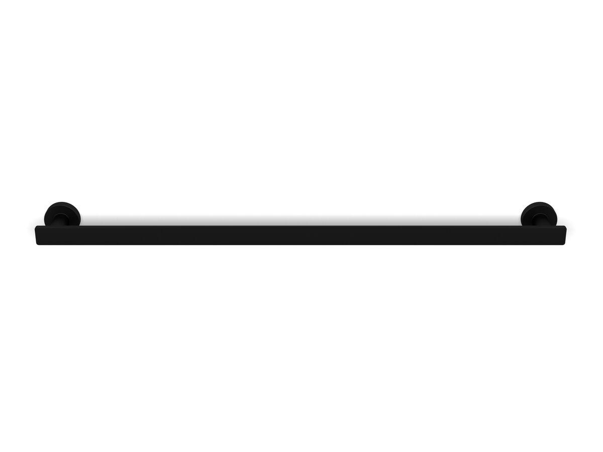 Milli Axon MK2 Single Towel Rail 600mm Matte Black