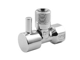 Arco Right Angle Ball Valve Mini Stop Lever Handle Chrome 15mm