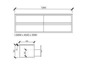 Issy Z8 Vanity Unit 4 Drawer 1200