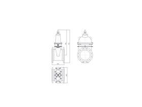Line Drawing - 300 DIMAX FL PN16 RS GATE VALVE B5