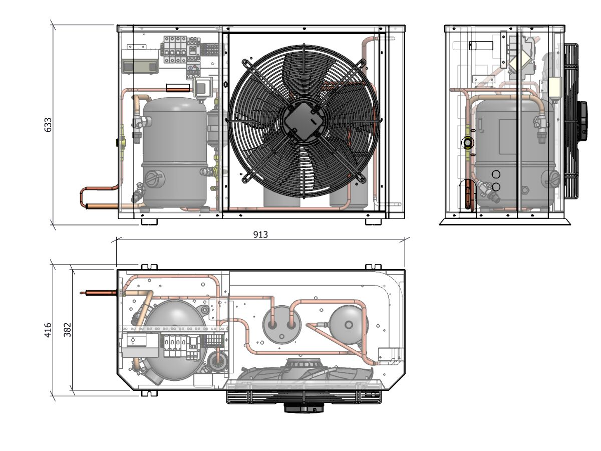 Tecumseh Compac Condensing Unit R134a PACS4525Y 1 Phase