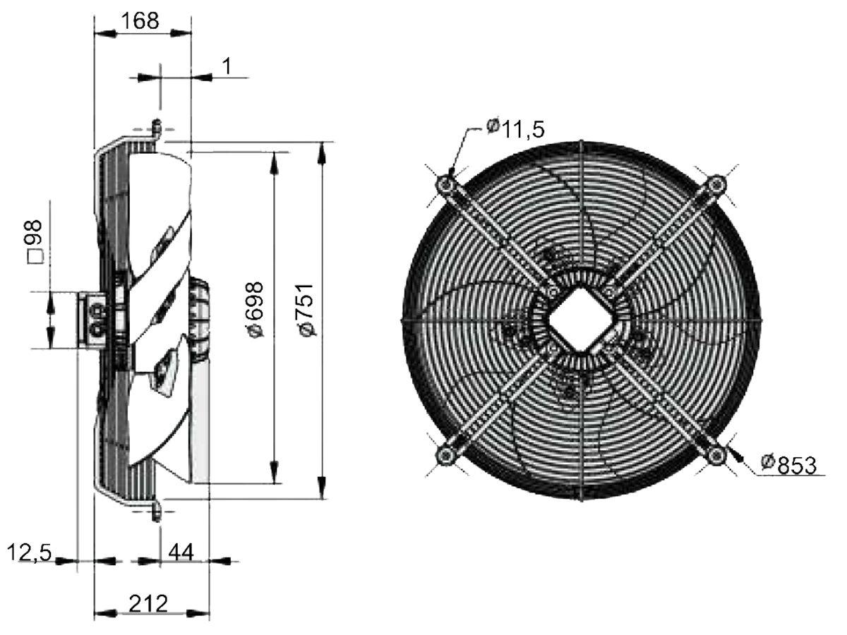 SolerPalau Fan 710mm 3Ph HRT/6-710/30BPN