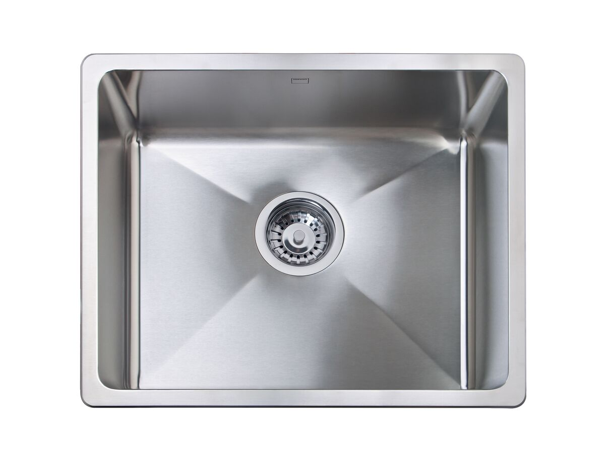 Memo Hugo Extended Single Bowl Sink No Taphole Stainless Steel