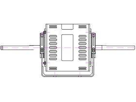 8061S082-80 Twin Shaft Rac Motor 600W