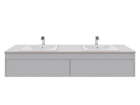 Acqua Wall Hung Vanity Unit Double 1800mm Caesarstone Surface 20mm Top