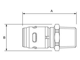 EvoPex Straight Connector Male
