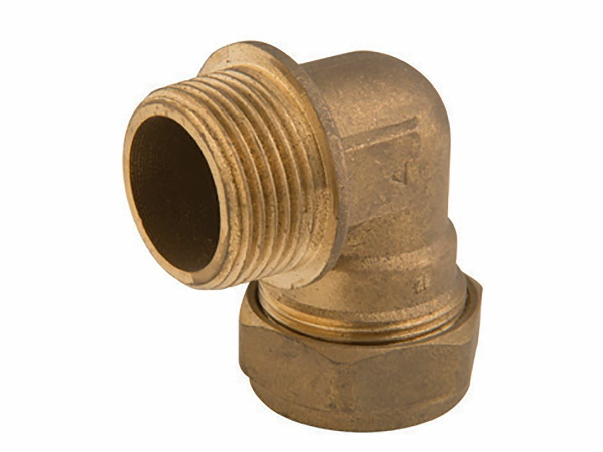 Brass Gas Compression Male Elbow