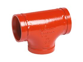 Victaulic Roll Groove Tee Painted 50mm