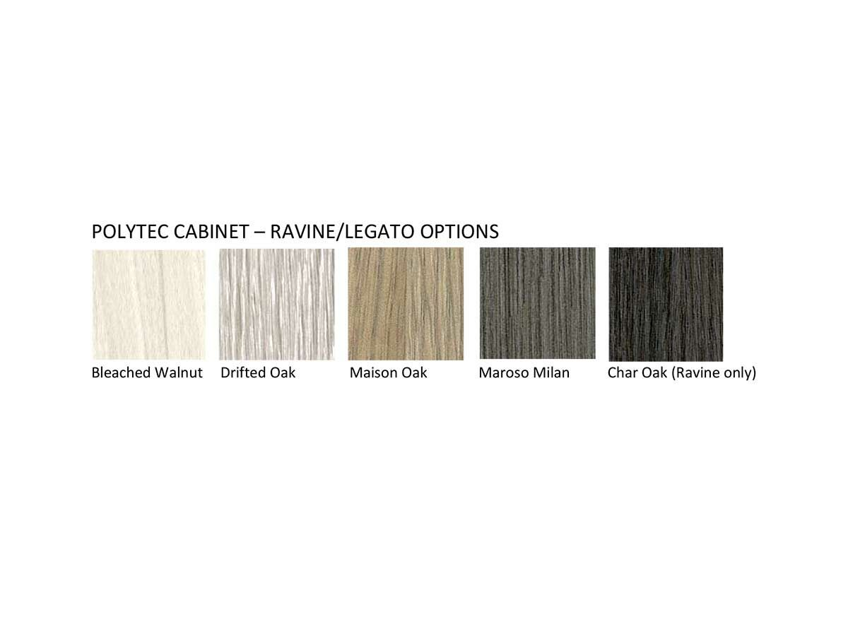 Polytec Cabinet Ravine / Legato Options