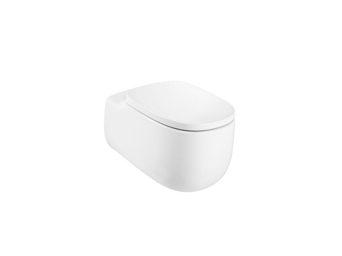 Roca Beyond Wall Hung Rimless Pan & Soft Close Quick Release Seat (4 Star)