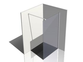 Kado Lux Fixed Shower Screen Panel and Wall Support 1200mm Chrome