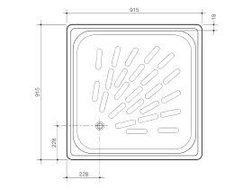 Caroma Mayfair Pressed Steel Shower Bath White