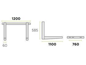 Rodigas Ref Wall Bracket 100kg 1200W1100