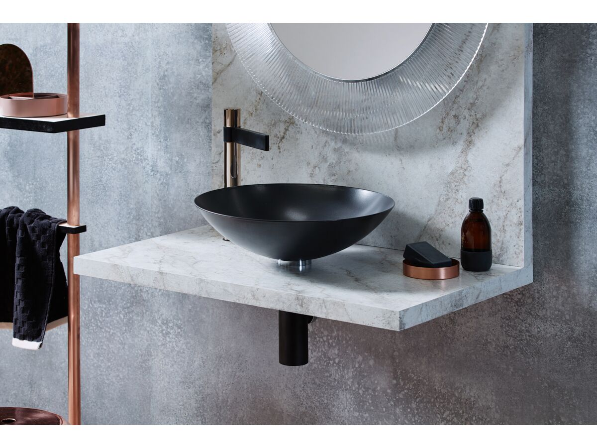 Alape Circa Above Counter Basin 450mm Matte Black