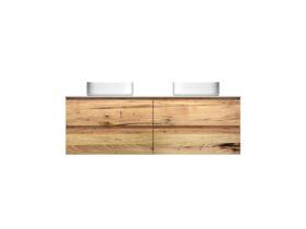 Kado Arc Timber Twin Drawer 1500 Double Bowl Vanity Corian 12mm Top