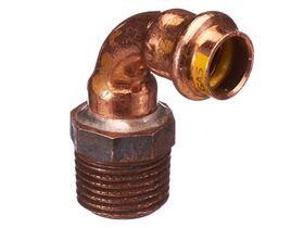 >B< Press Gas Threaded Elbow 15mm x 15mm Male