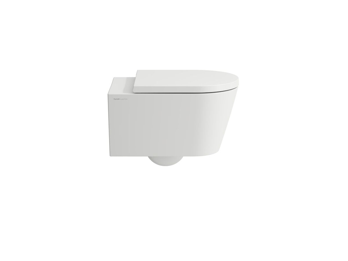LAUFEN Kartell By Laufen Rimless Wall Hung Pan and Soft Close Quick Release Seat White (4 Star)