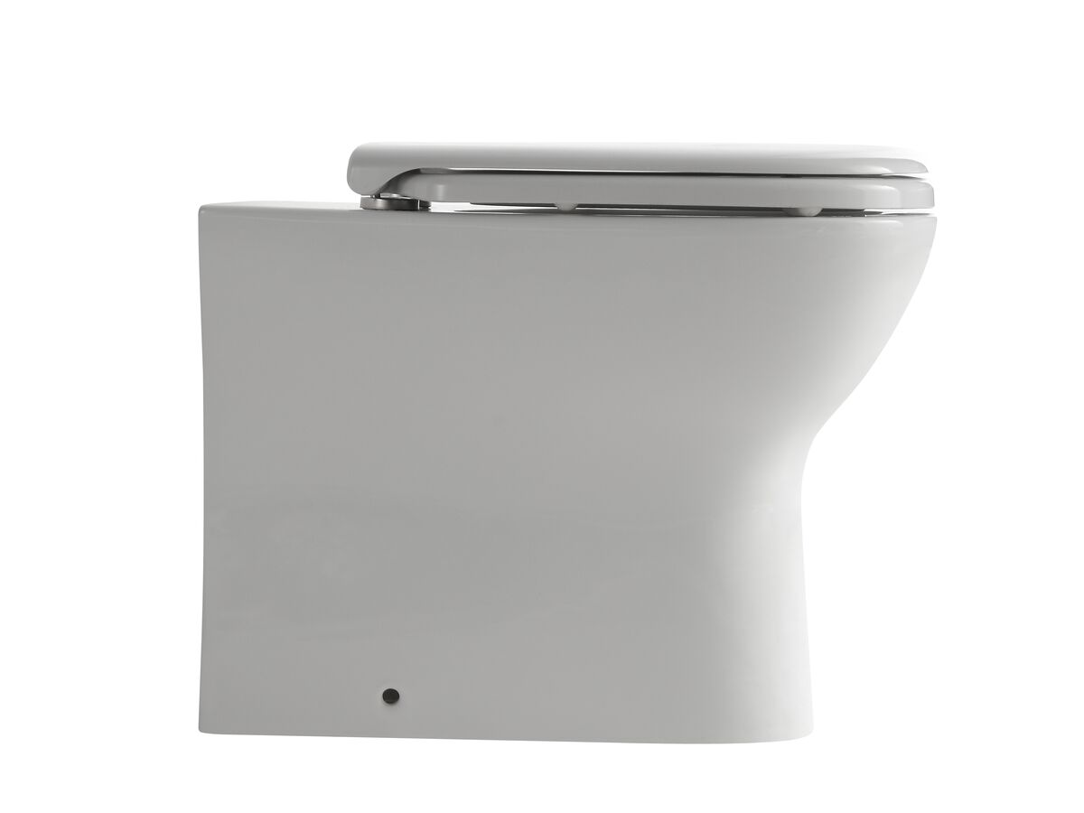 Posh Domaine Back to Wall Rimless Pan Soft Close Quick Release Seat (4 Star)