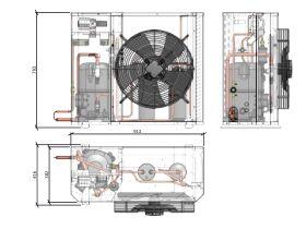 Tecumseh Compac Condensing Unit R134a PAC4543Y 3 Phase