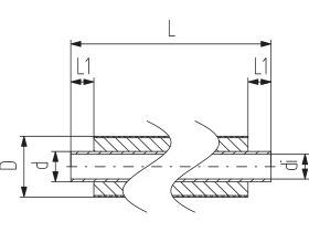 Technical Drawing - Cool-Fit 2.0  5mtr Pipe Male & Male