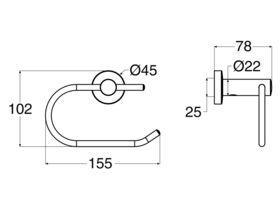 Posh Solus MK2 Toilet Roll Holder