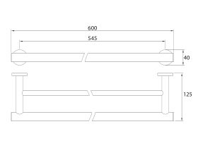 Mizu Drift Double Towel Rail 600mm