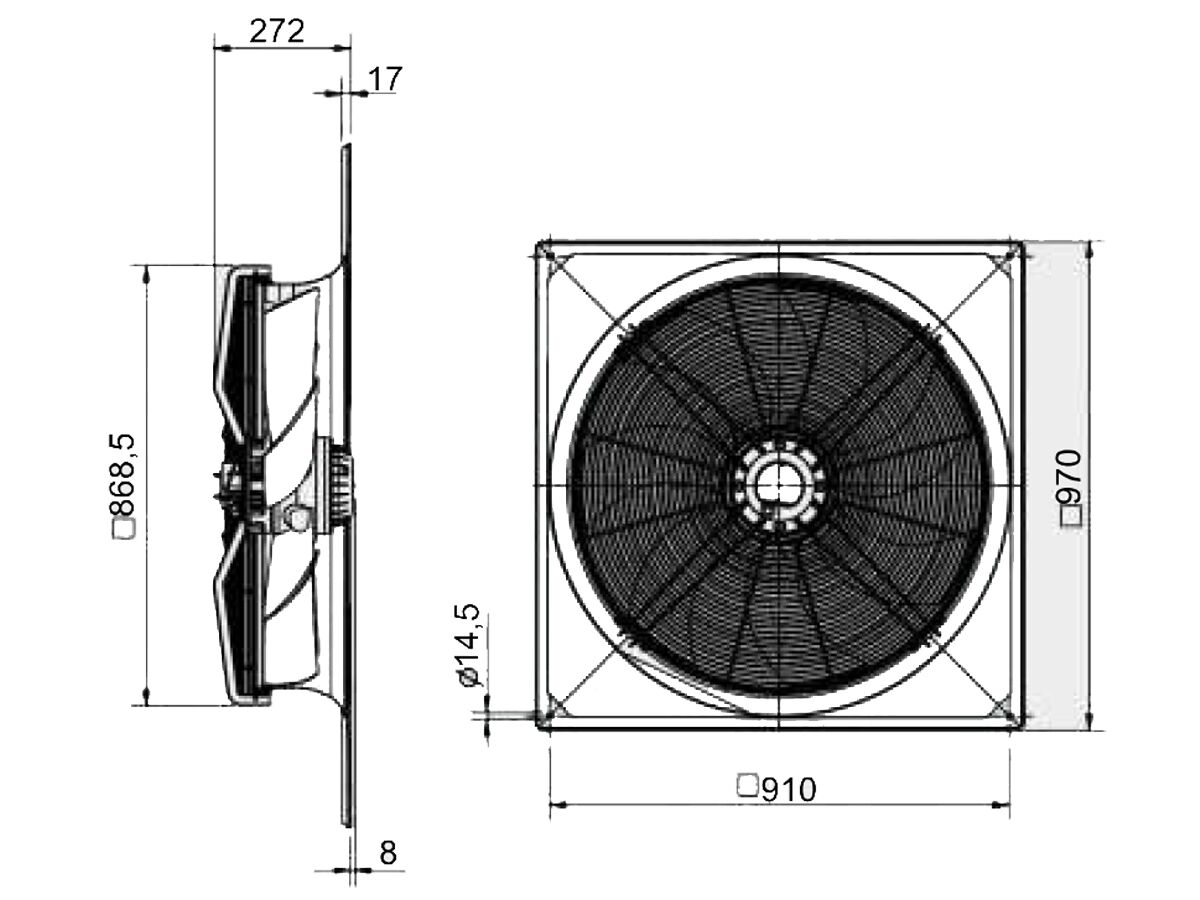 SolerPalau Fan 800mm 3Ph HRST/8-800/28BZ