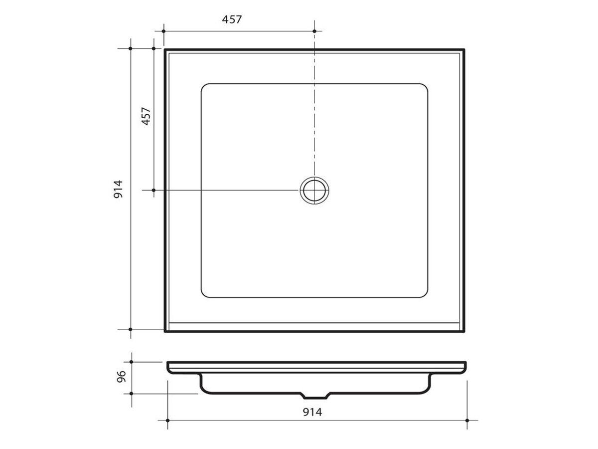PVC Shower Grate & Backnut White 80mm x 50mm