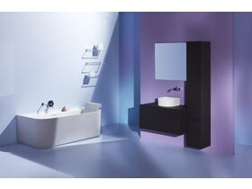 LAUFEN Sonar Freestanding Bath with Overflow 1600 x 815 Sentec White