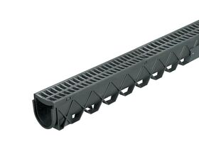 3mtr Storm Drain with Black Plastic Grate