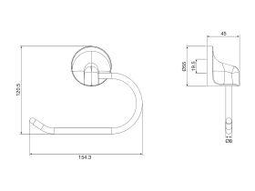 Base Toilet Roll Holder Chrome