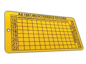 Tag Service Date Aluminium
