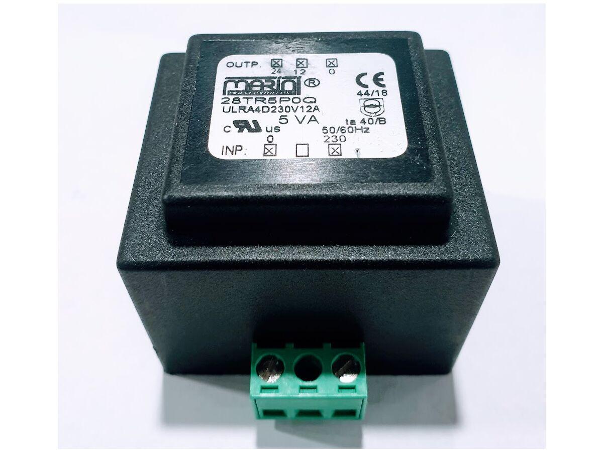 Carel 5Va Transformer 240 to 12 to 24V TRA0060000