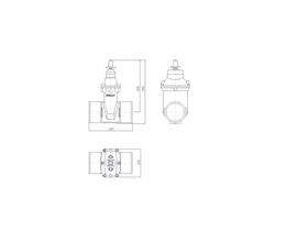 Line Drawing - 150 DIMAX SPIG PN16 RS GATE VALVE
