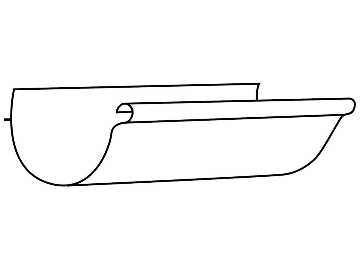 Flatback Half Round Gutter 250mm