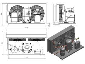 Tecumseh HTA Condensing Unit 3HP R404 MHBP TFHT4540ZHR-2