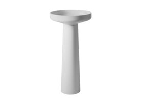 Venice 450 Basin and Pedestal Solid Surface White