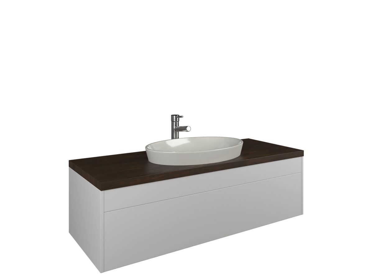 Neo 1000mm Wall Hung Vanity Unit Black Wenge from Reece