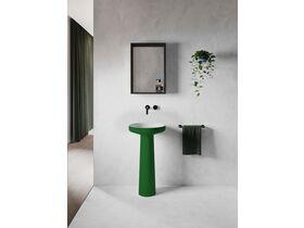 Venice 450 Basin and Pedestal Solid Surface Softskin Emerald Green