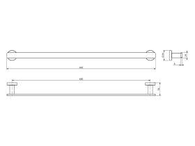 Milli Axon MK2 Single Towel Rail 600mm