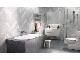 Posh Solus Oval Inset Bath White
