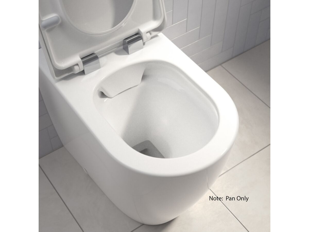 Caroma Forma Cleanflush Close Coupled Back To Wall Pan ONLY White (4 Star)