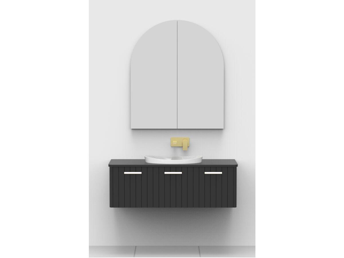 Kado Neue Arch 900 x 1050mm 2 Door Mirrored Shave Cabinet