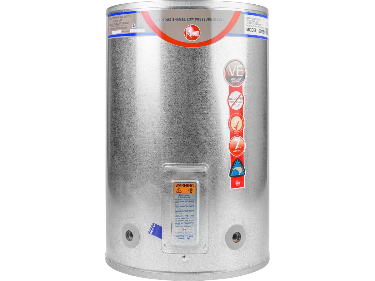 Rheem Low Pressure Vitreous Enamel 135 Litre 580X886H 3kW Triple Inlet