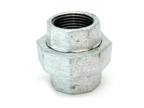 GAL MAL UNION C/W RUBBER GASKET 40MM