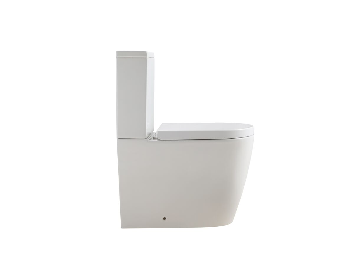 Kado Lux Close Coupled Back To Wall Rimless Overheight Back Inlet Toilet Suite with Soft Close Quick Release Seat (4 Star)