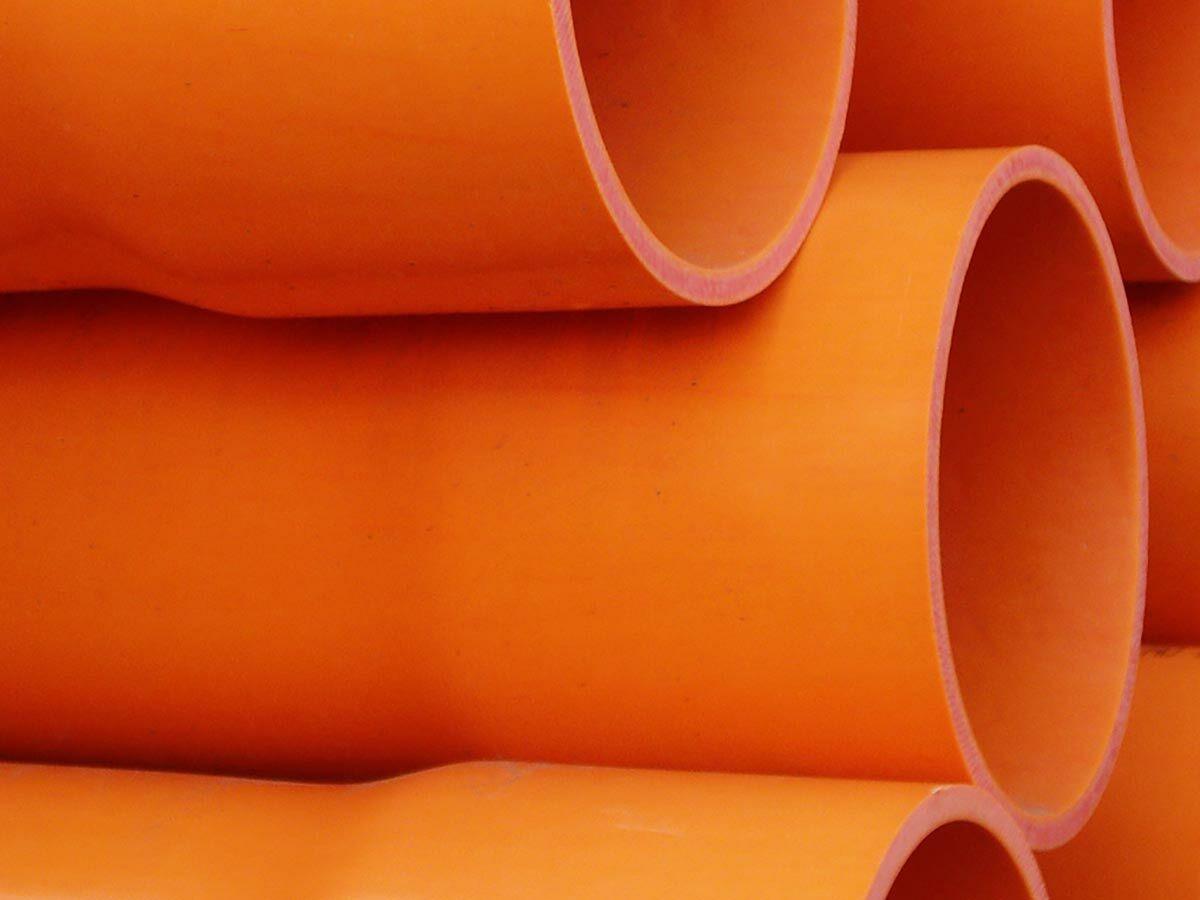 Orange Light Duty Electrical Conduit Foam 6mtr
