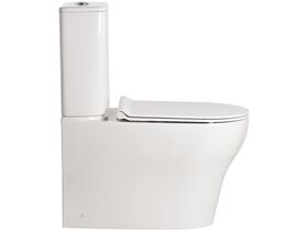 American Standard Cygnet Hygiene Rim Close Coupled Back to Wall Back Inlet Toilet Suite with Soft Close Quick Release Seat White (4 Star)