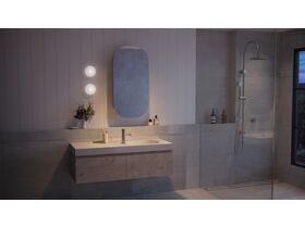 Kado Lussi 1200mm Wall Hung Vanity Unit with Two Soft Close Drawers Timber Finish