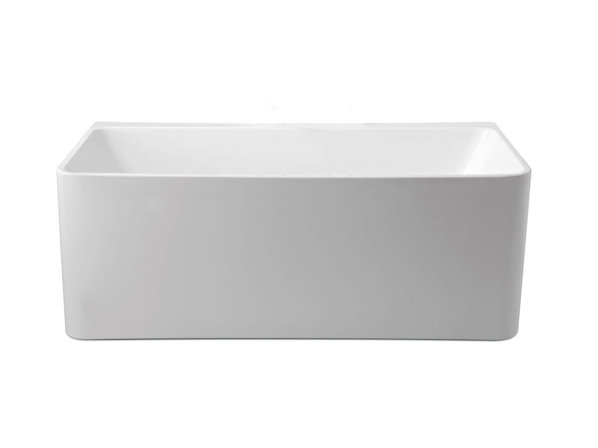 Posh Domaine Back to Wall Freestanding Bath White
